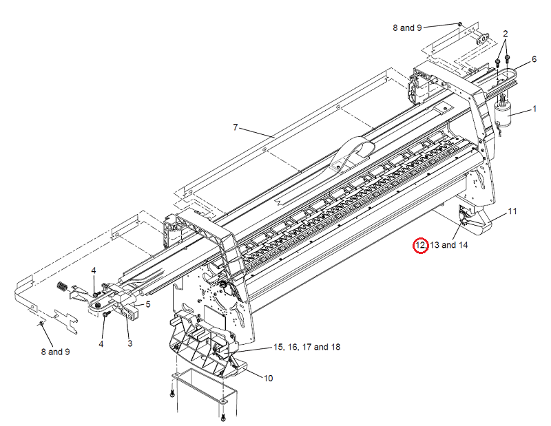 HP C6074-60391 Right rollfeed break for HP DesignJet 1050 1055 5000 5500