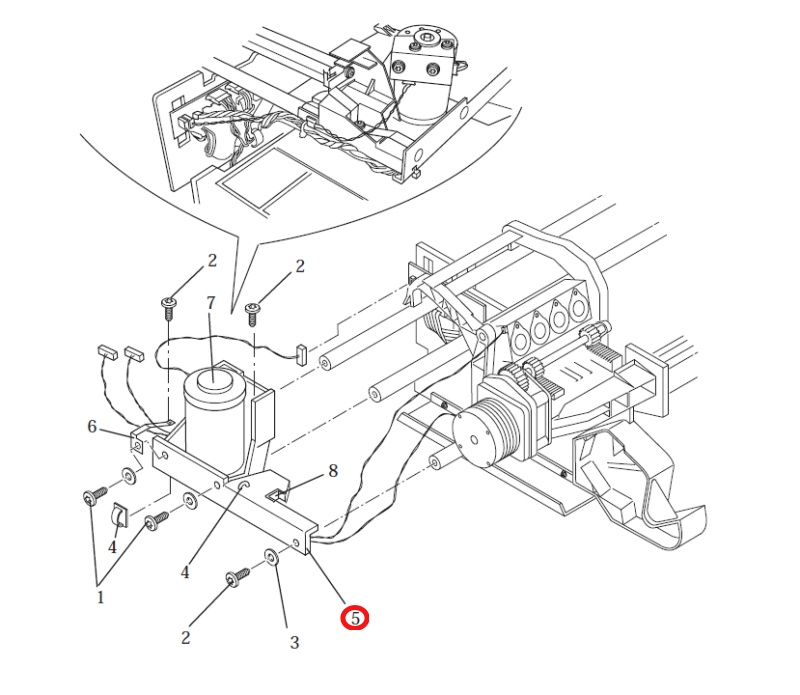 HP C4704-00005 Y-axis motor bracket for HP DesignJet 2000 3000