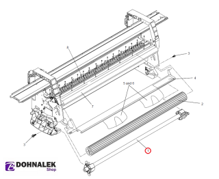 HP C6072-60126 E/A0 rollfeed spindle for HP DesignJet 1050 1055