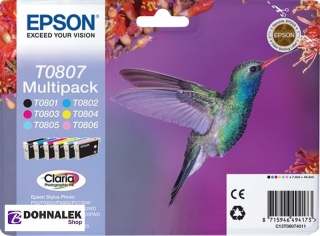 EPSON T0807, Originální Multipack Claria Photographic Ink