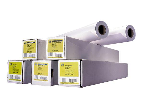 HP C6035A, Jasně bílý papír 610mm, 45 m, 90g/m2