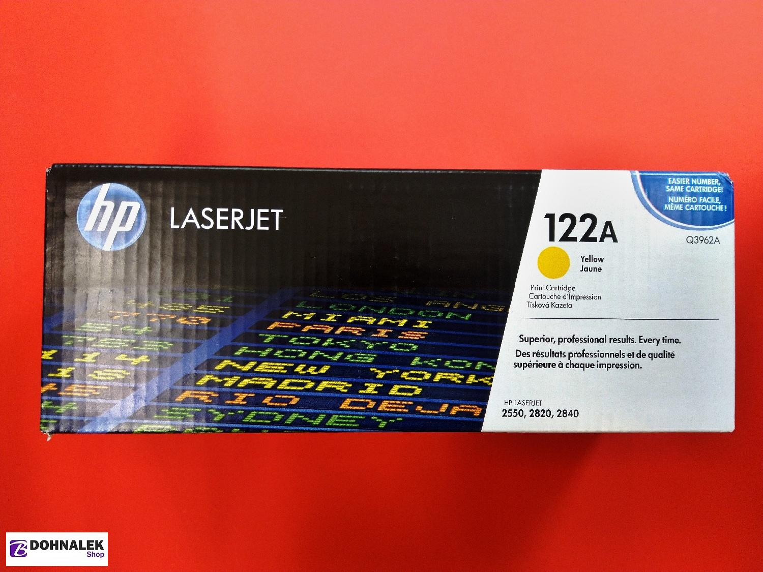 HP Q3962A Toner 122A pro CLJ 2550 (4000str), Yellow